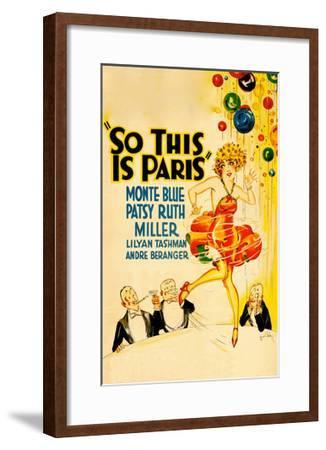 So This Is Paris--Framed Art Print
