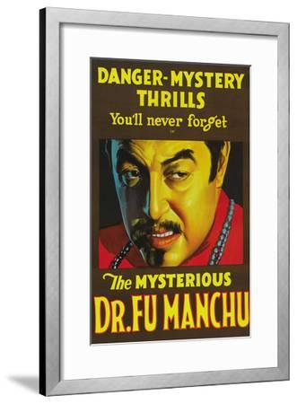 The Mysterious Dr. Fu Manchu--Framed Art Print