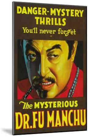The Mysterious Dr. Fu Manchu--Mounted Art Print