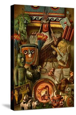 South American Indian Antiquities-F^W^ Kuhnert-Stretched Canvas Print