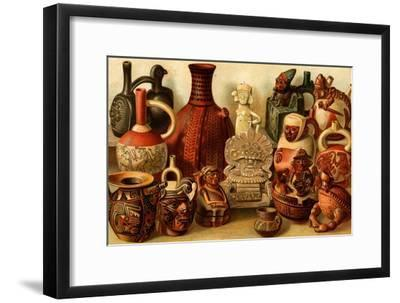 South American Indian Antiquities-F^W^ Kuhnert-Framed Art Print