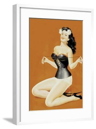 Lacing Her Bra-Peter Driben-Framed Art Print