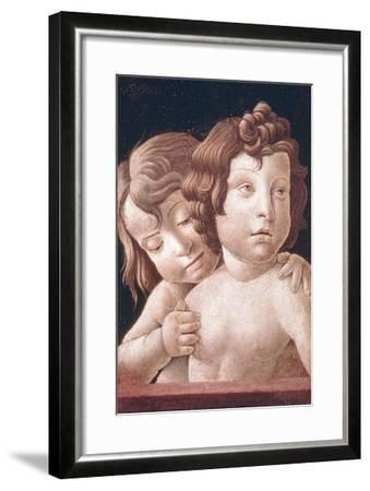 Christ and St John by Bellini-Giovanni Bellini-Framed Art Print