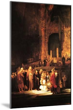 Christ and the Adultress-Rembrandt van Rijn-Mounted Art Print