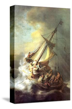 Christ in the Storm on the Lake of Galilea-Rembrandt van Rijn-Stretched Canvas Print