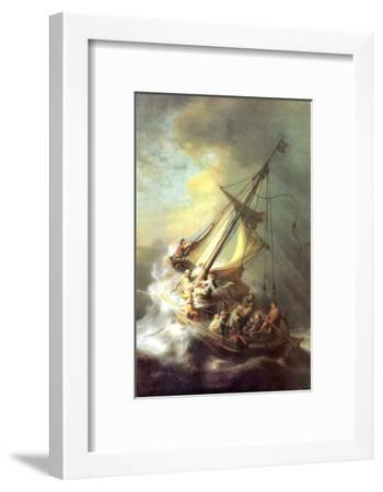 Christ in the Storm on the Lake of Galilea-Rembrandt van Rijn-Framed Art Print