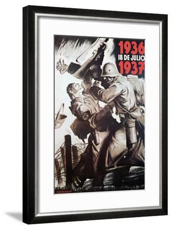 The 18th of July 1936-1937- Bardasano-Framed Art Print