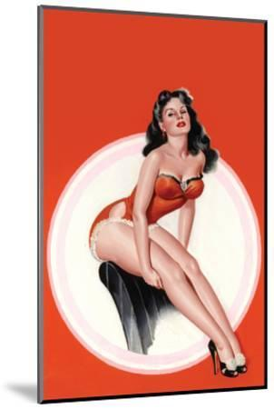 Eyeful Magazine; Brunette in a Red Bathing Suit-Peter Driben-Mounted Art Print