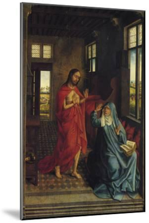 Christ Appearing to the Virgin-Rogier van der Weyden-Mounted Art Print