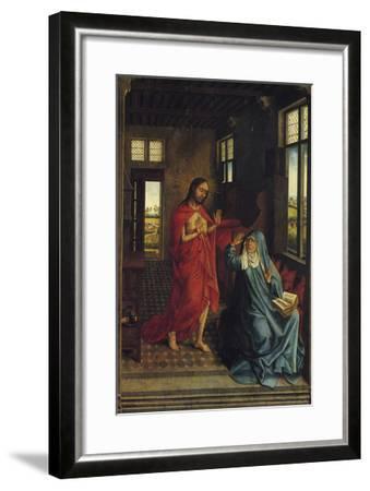 Christ Appearing to the Virgin-Rogier van der Weyden-Framed Art Print