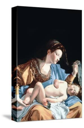 Madonna with Sleeping Christ Child-Artemisia Gentileschi-Stretched Canvas Print