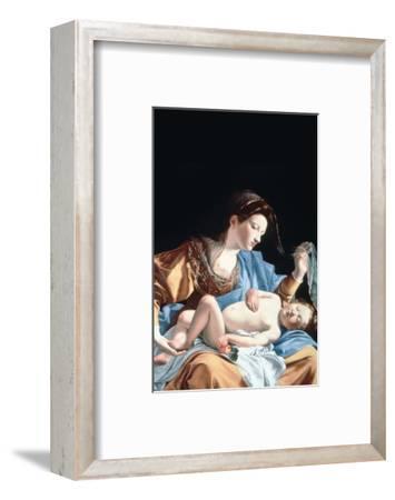 Madonna with Sleeping Christ Child-Artemisia Gentileschi-Framed Premium Giclee Print
