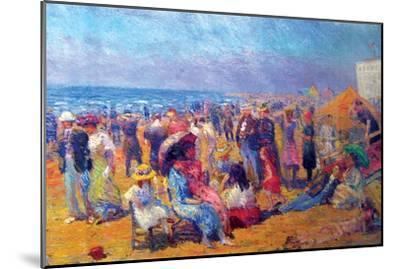Crowd at the Beach-William Glackens-Mounted Art Print