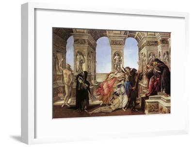 Calumny of Appeles-Sandro Botticelli-Framed Art Print