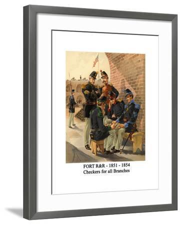 Fort R&R - 1851 - 1854 - Checkers for All Branches-Henry Alexander Ogden-Framed Art Print
