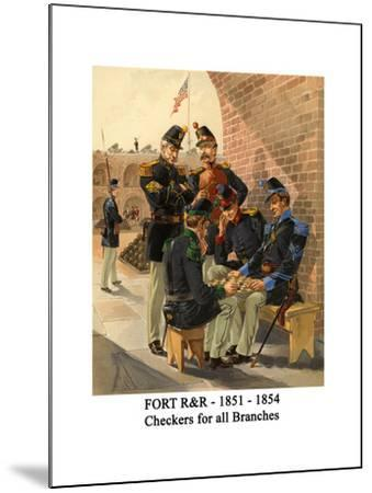 Fort R&R - 1851 - 1854 - Checkers for All Branches-Henry Alexander Ogden-Mounted Art Print