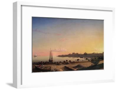 Stage Fort across Gloucester Harbor-Fitz Henry Lane-Framed Art Print