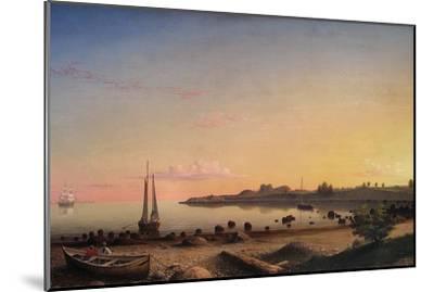 Stage Fort across Gloucester Harbor-Fitz Henry Lane-Mounted Art Print