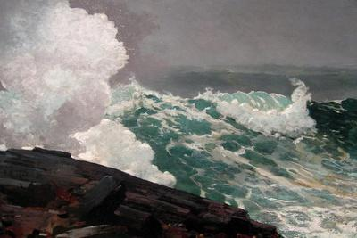 Northeaster-Winslow Homer-Stretched Canvas Print