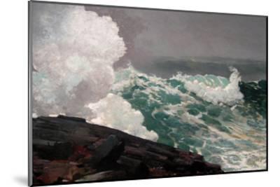 Northeaster-Winslow Homer-Mounted Art Print