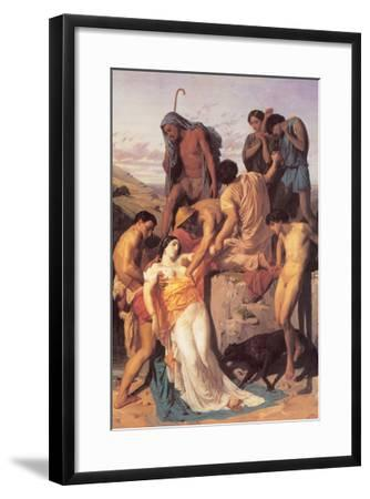 Zenobia Found by Shepherds on the Banks of the Araxes-William Adolphe Bouguereau-Framed Art Print