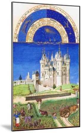 Le Tres Riches Heures Du Duc De Berry - September-Paul Herman & Jean Limbourg-Mounted Art Print