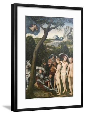 Judgment of Paris-Lucas Cranach the Elder-Framed Art Print