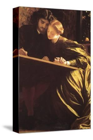 The Painter's Honeymoon-Frederick Leighton-Stretched Canvas Print