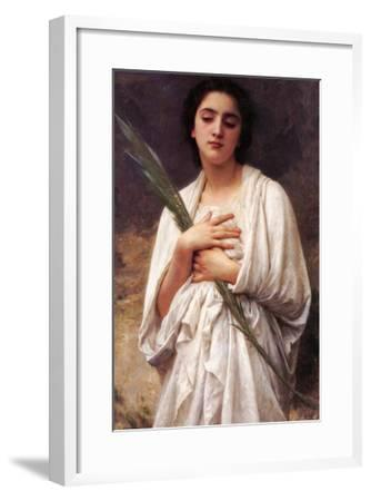 The Palm Leaf-William Adolphe Bouguereau-Framed Art Print