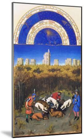 Le Tres Riches Heures Du Duc De Berry - December-Paul Herman & Jean Limbourg-Mounted Art Print