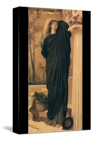 Electra at the Tomb of Agamemnon-Frederick Leighton-Stretched Canvas Print