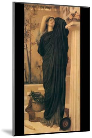 Electra at the Tomb of Agamemnon-Frederick Leighton-Mounted Art Print