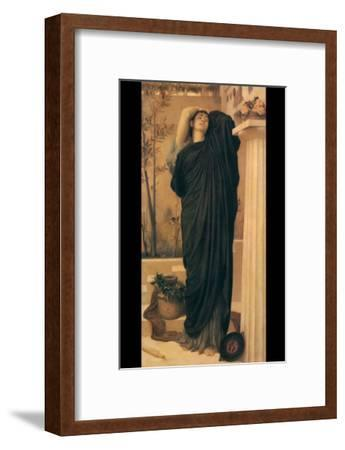 Electra at the Tomb of Agamemnon-Frederick Leighton-Framed Art Print
