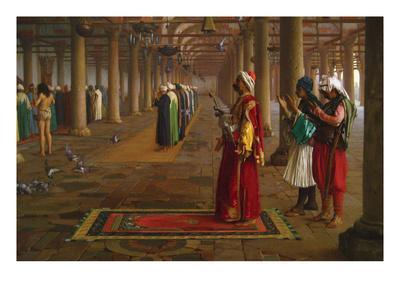 Prayer in a Mosque-Jean Leon Gerome-Framed Art Print