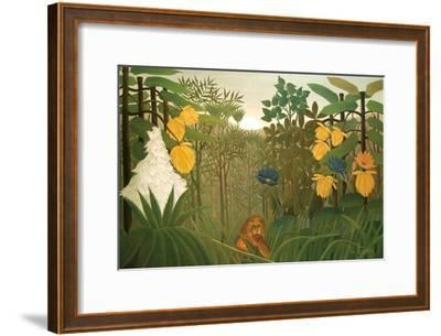Repast of the Lion-Henri Rousseau-Framed Art Print