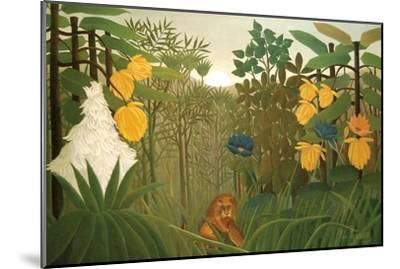 Repast of the Lion-Henri Rousseau-Mounted Art Print