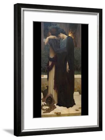 Lachrymae (Mary Lloyd)-Frederick Leighton-Framed Art Print