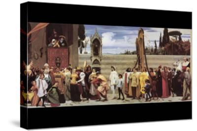 Cimabue's Celebrated Madonna-Frederick Leighton-Stretched Canvas Print