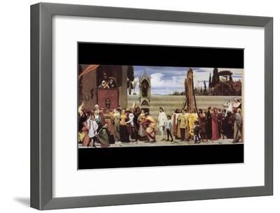 Cimabue's Celebrated Madonna-Frederick Leighton-Framed Art Print