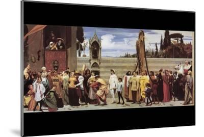 Cimabue's Celebrated Madonna-Frederick Leighton-Mounted Art Print