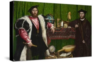 The Ambassadors-Hans Holbein the Younger-Stretched Canvas Print