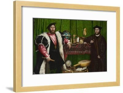 The Ambassadors-Hans Holbein the Younger-Framed Art Print