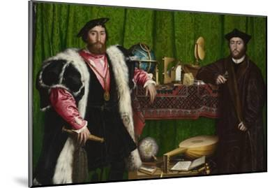 The Ambassadors-Hans Holbein the Younger-Mounted Art Print