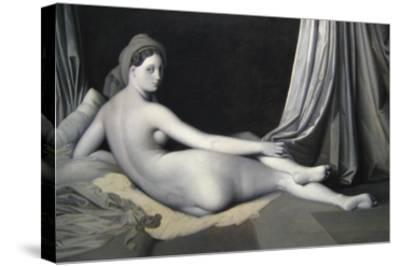 Odalisque in Grisaille-Jean-Auguste-Dominique Ingres-Stretched Canvas Print