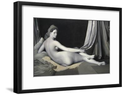 Odalisque in Grisaille-Jean-Auguste-Dominique Ingres-Framed Art Print