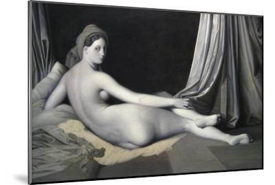 Odalisque in Grisaille-Jean-Auguste-Dominique Ingres-Mounted Art Print