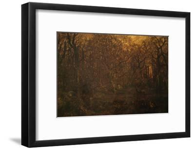 Winter Forest at Sunset-Pierre Etienne Theodore Rousseau-Framed Art Print