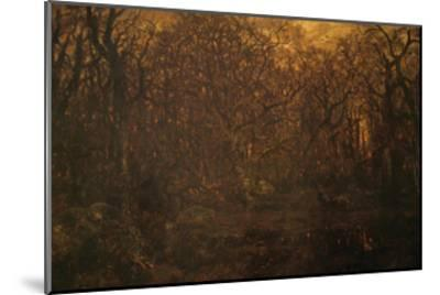 Winter Forest at Sunset-Pierre Etienne Theodore Rousseau-Mounted Art Print
