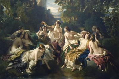 Florinda-Franz Xaver Winterhalter-Stretched Canvas Print