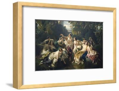 Florinda-Franz Xaver Winterhalter-Framed Art Print